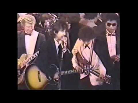 All Along The Watchtower - George Harrison, Ringo Starr, Bob Dylan Rock'n'Roll Hall Of Fame 1/20/88