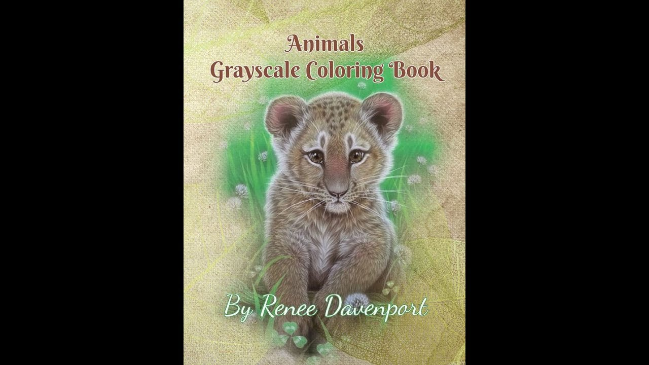 animals grayscale coloring book revised with lighter coloring pages youtube. Black Bedroom Furniture Sets. Home Design Ideas