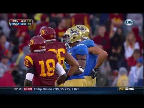 USC vs UCLA football 38-28 November 17, 2012 pregame, victory montage gameplay