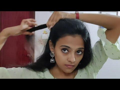 simple-and-easy-hair-style -easy-hair-style-in-tamil- -hair-style-for-medium-hair