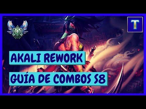 AKALI REWORK GUÍA COMPLETA DE COMBOS S8 | Consejos y Combos antes y después del LVL 6 | TenYasha LOL