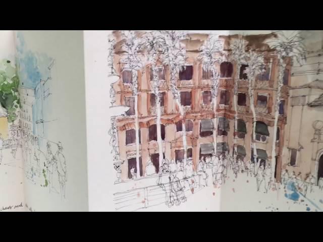 Urban sketching in Malaga