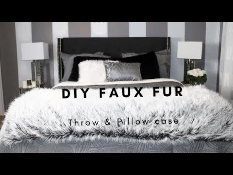 How to Make a Luxury Faux Fur Throw and Body Pillow Case on a Budget