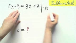 Gleichungen als Zahlenrätsel  aufstellen und lösen Aufgabe 1