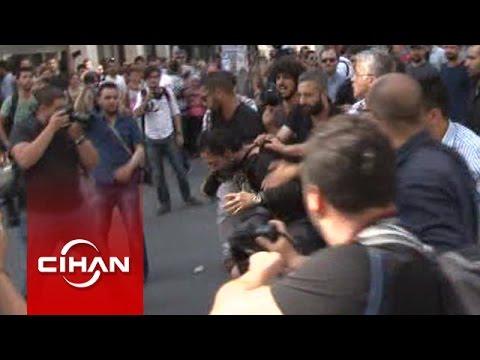 Taksim'deki yürüyüşte olay çıktı