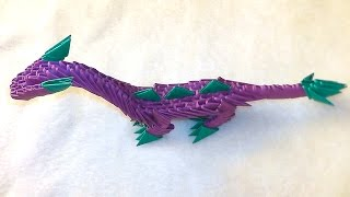 3D origami dragon (dinosaur) tutorial