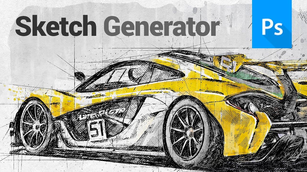 Sketch Generator - DRAFTUM - Photoshop Plugin Tutorial