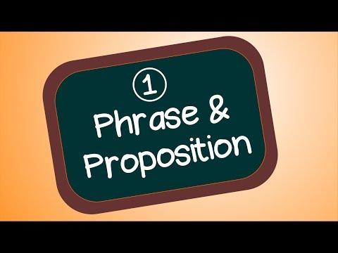 Proposition et phrase (organisation de la phrase)