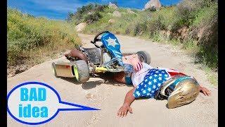 100mph Shifter Kart VS. Dirt !!(  Fail )