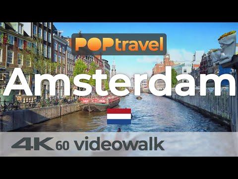 Walking In AMSTERDAM / Netherlands 🇳🇱- 4K 60fps (UHD)