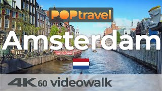 Walking in AMSTERDAM / Netherlands 🇳🇱- 4K 60fps (UHD)
