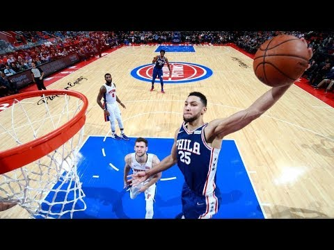Ben Simmons 1st Triple Double! 21 Pts 12 Rebs 10 Asts! 76ers vs Pistons 2017-18 Season