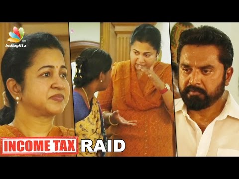 Income tax raids at houses of Actor Sarathkumar and Minister Vijay Kumar | Hot Tamil News | Radhika