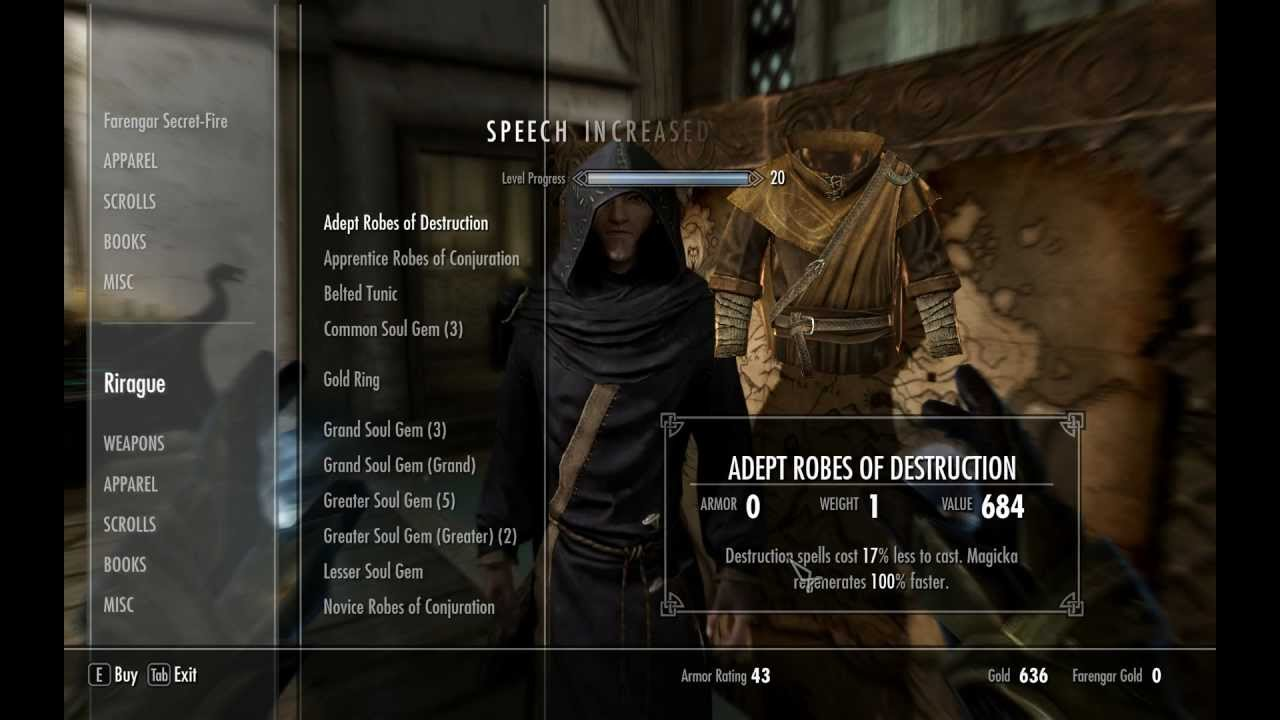 Skyrim Unlimited Infinite Gold and Speech skill  VERY MAJOR GLITCH! for PC
