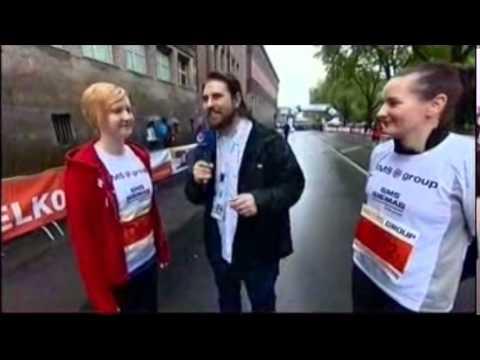 Metro Group Marathon 2014 Center TV Interview mit Melli & Jacqueline (SMS Group)