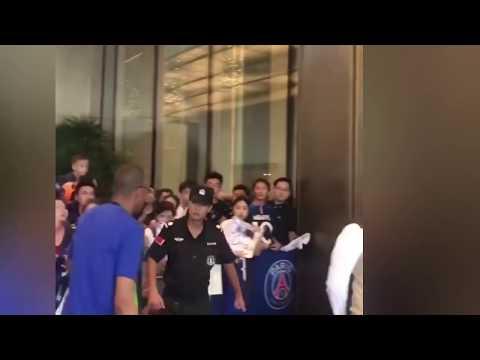 Neymar Jr and PSG teammates training in Shenzhen Bay Sports Center