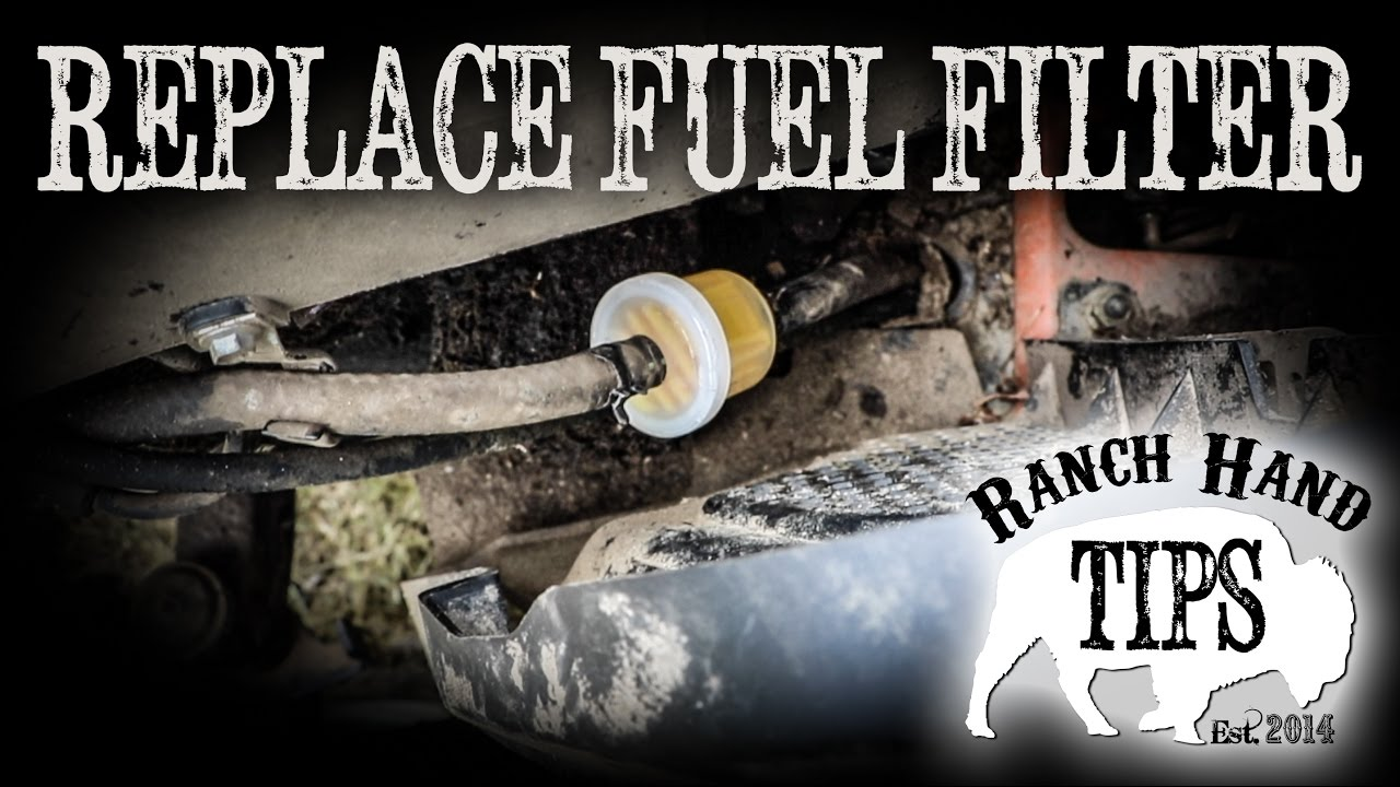 Husqvarna Riding Mower Change Fuel Filter Ranch Hand Tips Youtube Replacement