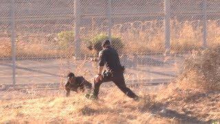 Entrada masiva en Ceuta: Cizallas, cal viva y bolas de heces para entrar por la Frontera Sur