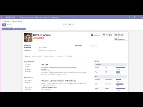Employee Skill Management in Odoo13