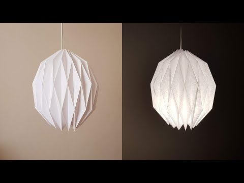 Easy Geometric Oval Origami Paper Lamp Shade - DIY Paper Craft | Luis Craft