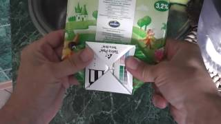 утилизация упаковок од кефира