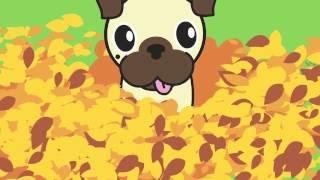Dog Rockets Cartoons Episode 6 Autumn Fun Featuring Aurora The Pug