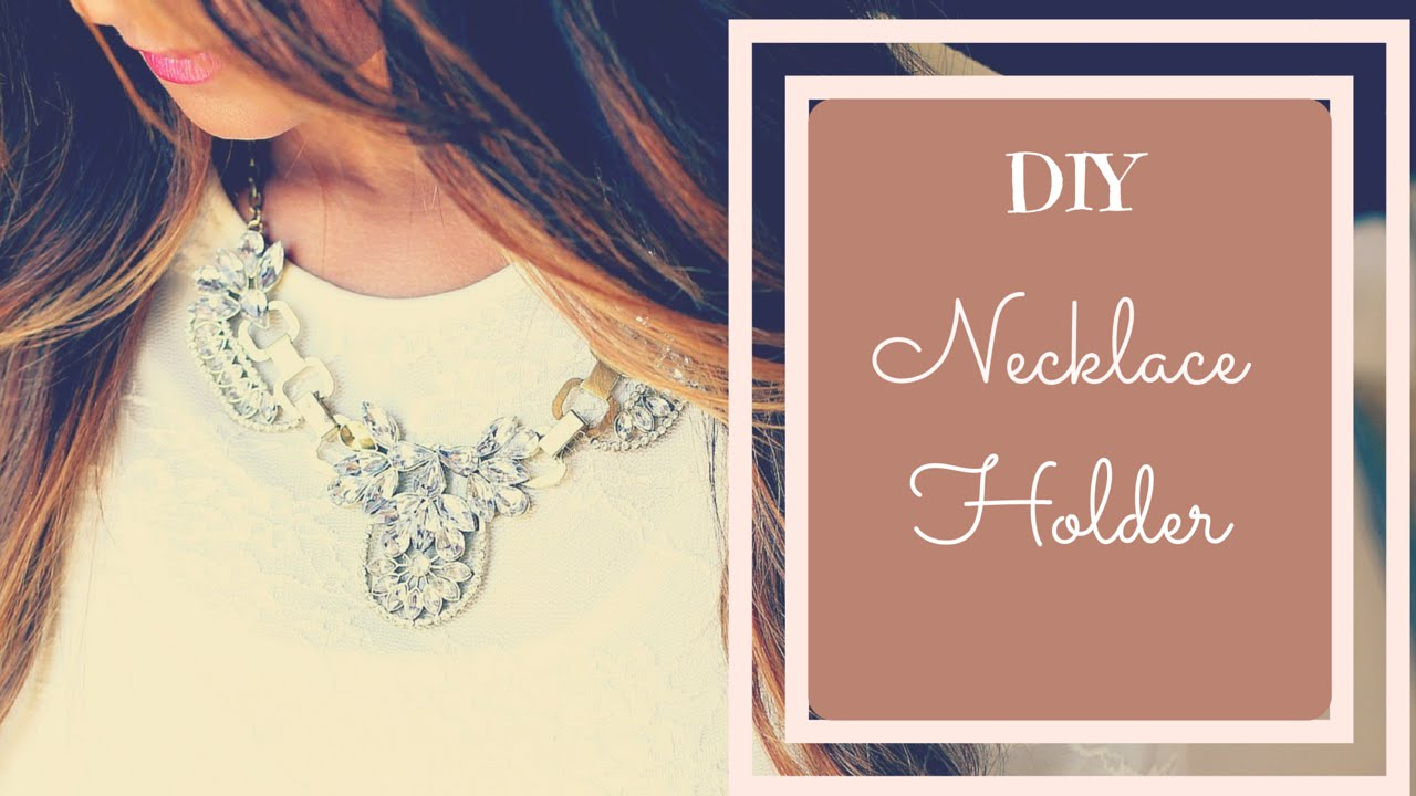DIY Jewelry Organizer DIY Necklace Holder Tutorial by