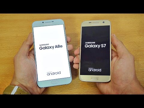 Samsung Galaxy A8 (2016) vs Galaxy S7 - Speed Test! (4K)