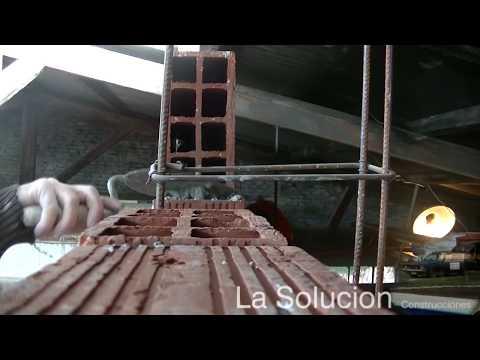 Hacer pared de ladrillos huecos | Panderetas