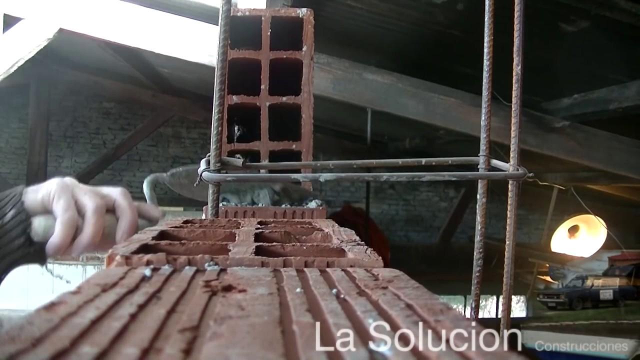 Hacer pared de ladrillos huecos panderetas youtube Construir una pileta de ladrillos