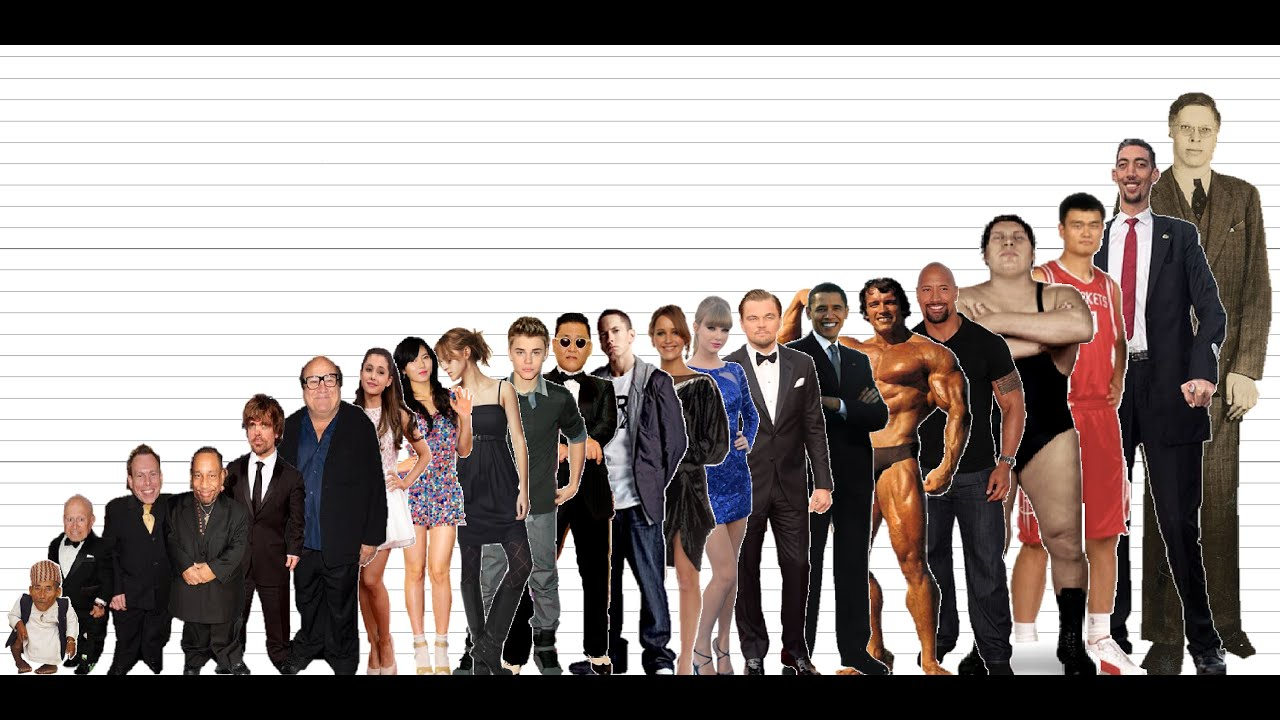 Celebrity Height Comparison Chart (10K Subscribers Special ...