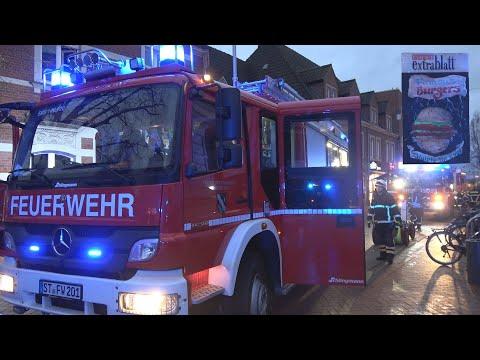 [Erneuter Brand in Emsdettener Innenstadt] Feuer über Extra Blatt--Einsatz Feuerwehr Emsdetten