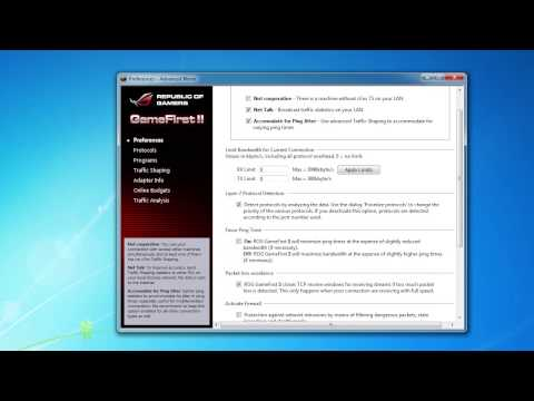 ASUS GameFirst II Software Overview
