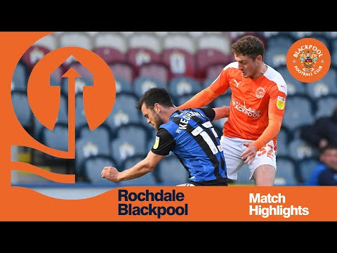 Rochdale Blackpool Goals And Highlights