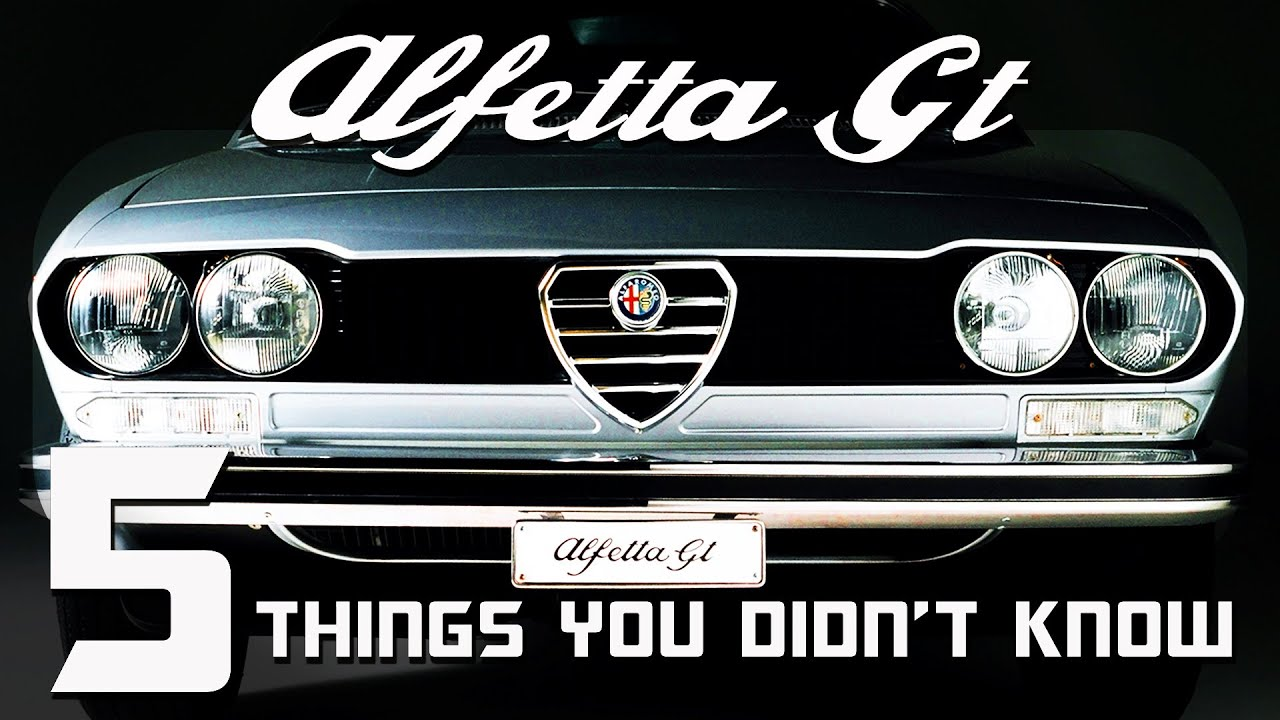 Things You Didn't Know About The Alfa Romeo Alfetta GT
