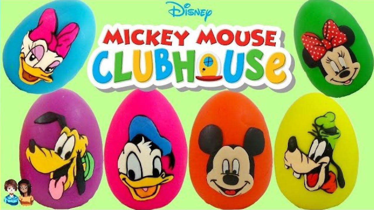 Disney Mickey Mouse Clubhouse Play Doh Egg Surprises