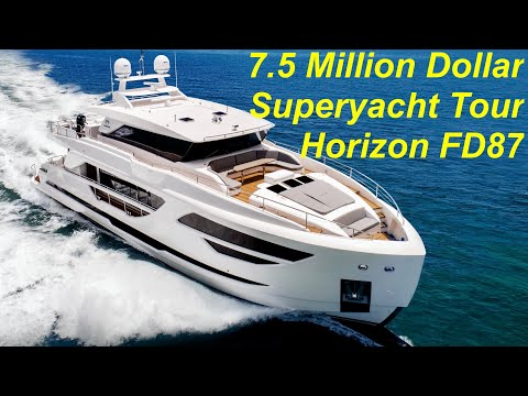 $7.5 Million Superyacht Tour : Horizon FD87