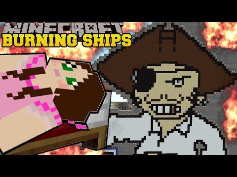 Minecraft: IT'S RAINING TNT! (BURNING BATTLESHIPS) Mini-Game