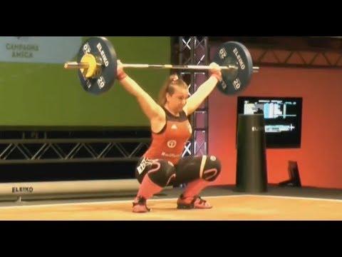 Lena Raidel - Girls 75kg - 2018 European U15 Weightlifting Championships