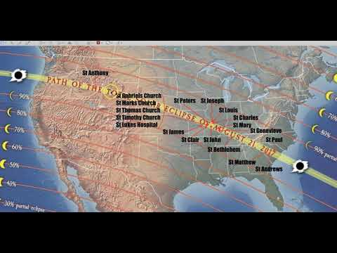Total Solar Eclipse 2017 - 19 Saints in Path of Totality - Coast to Coast