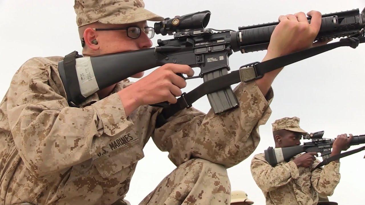 marine corps recruits fire m16a4 rifles youtube