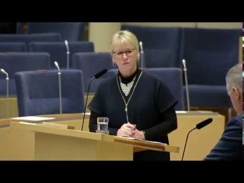 Swedish Parliament Debate on Tuesday February 6, 2018