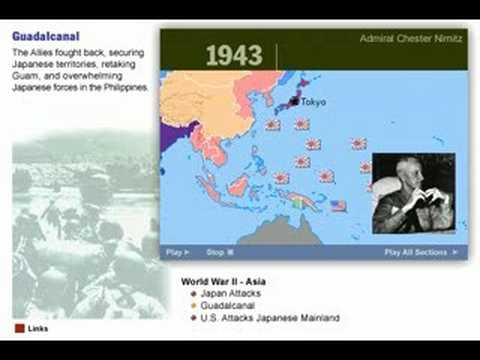 History of World War Two in Asia  1941 - 1945  Map