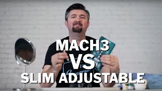Wet Shave Showdown Gillette Mach 3 vs Gillette Double Edge Razor Slim Adjustable
