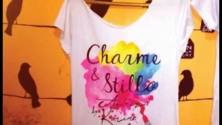 Charme & Stillo com On Sunday| Blusas pintadas p/ Blog