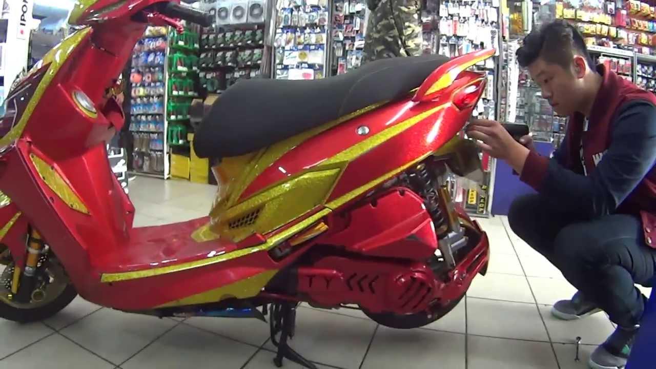 IRON MAN  Custom Scooter!!  YouTube