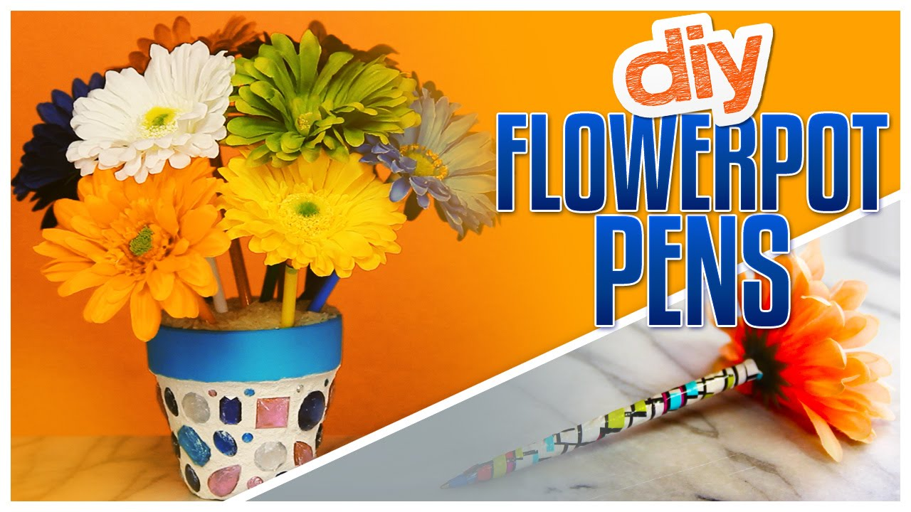 DIY Flower Pen Bouquet! - Do It, Gurl - YouTube