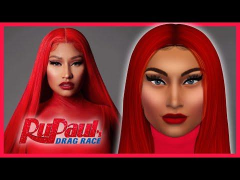Creating NICKI MINAJ On The Sims 4 | Sims Photoshop Art