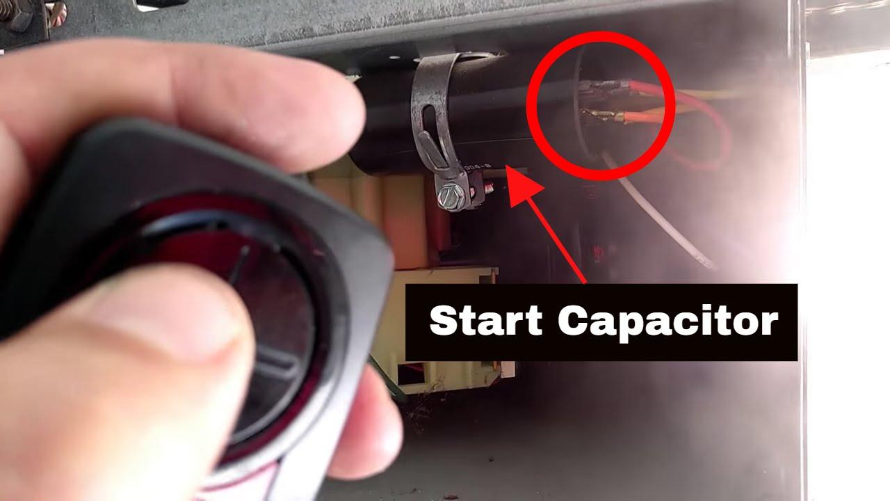 garage door capacitorGarage Door Opener Troubleshooting  Smoking Garage Door Opener