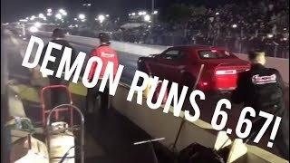 1st DODGE DEMON DRAG RACING with VIDEO!
